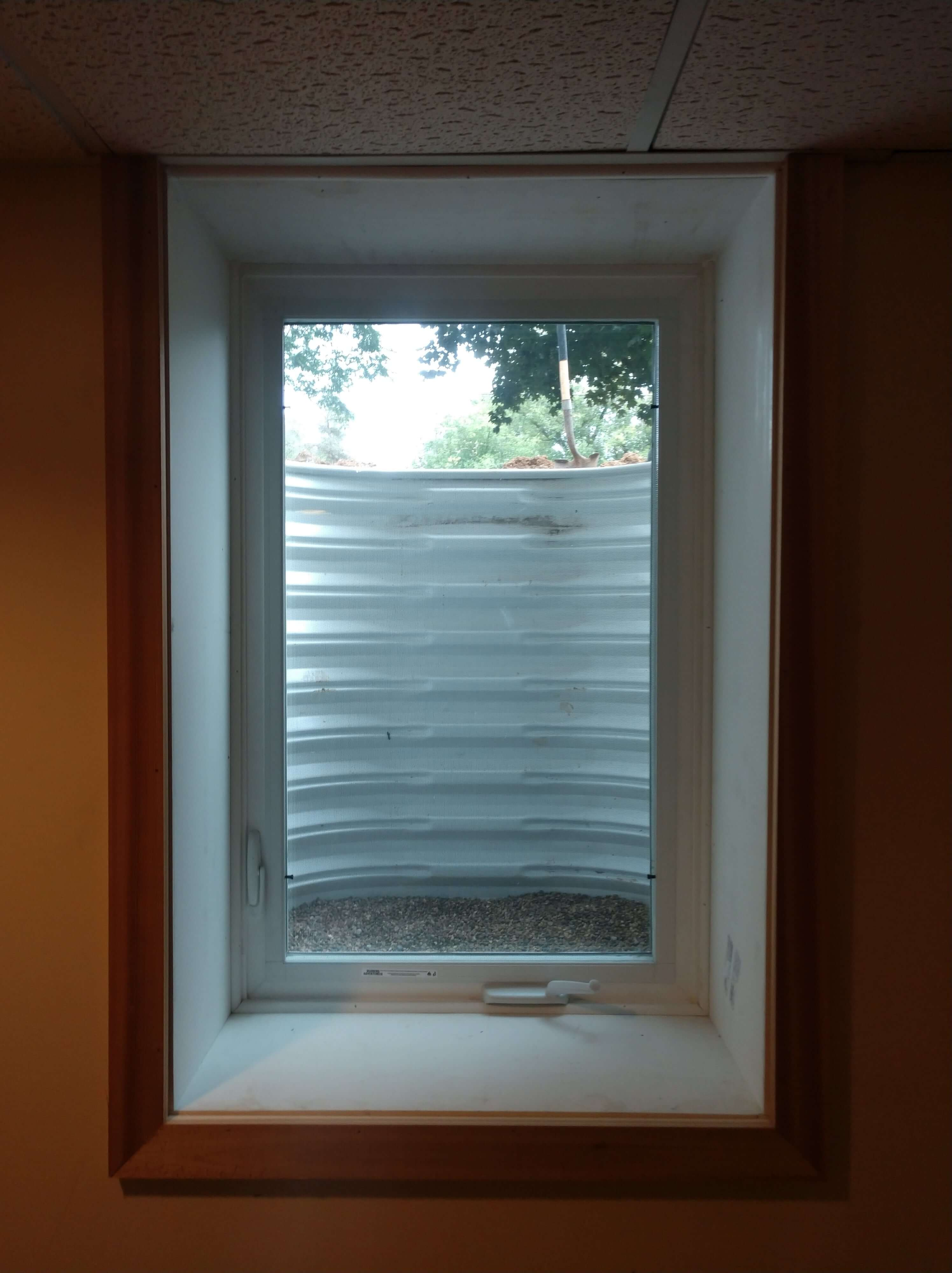 window viewed from the interior